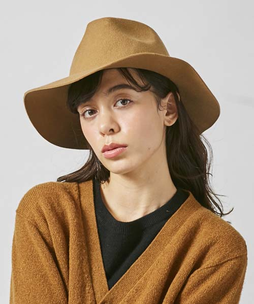 WOOL LONG BRIM HAT