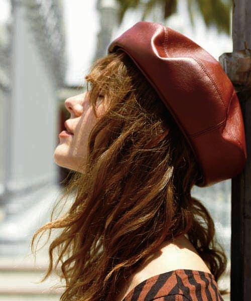 Chapeau d' O FakeLeather Beret