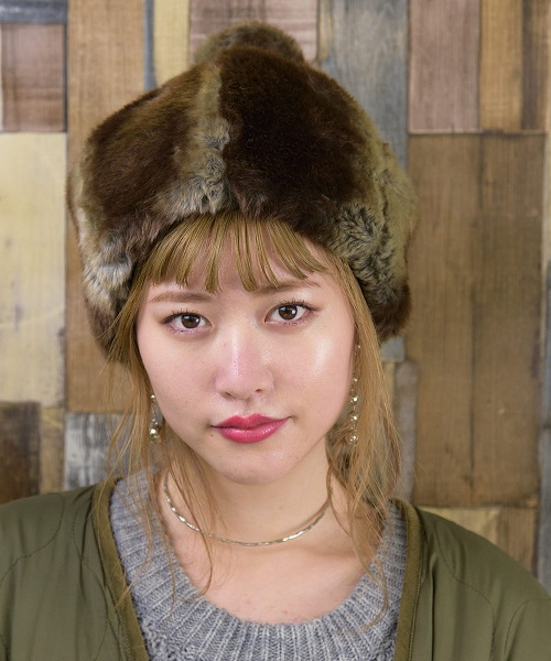 override Crockett Fur Tail Hat