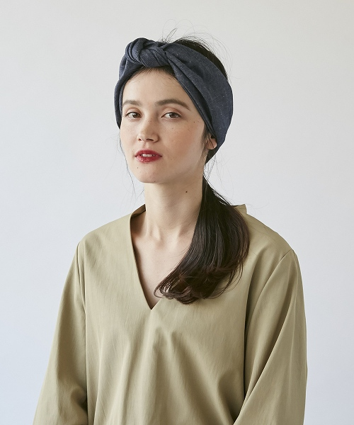 Chapeau d' O Check & Denim Turban