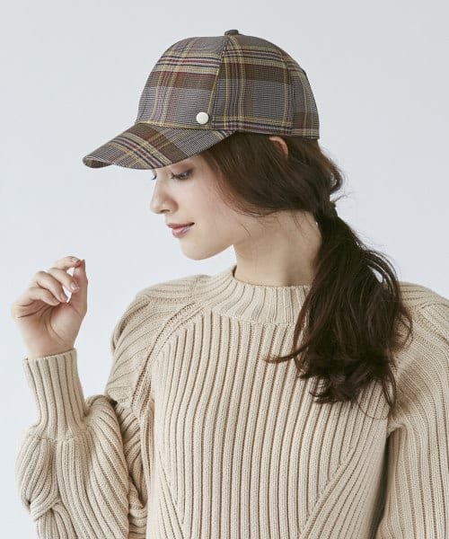 Chapeau d' O Check Lace-up Cap