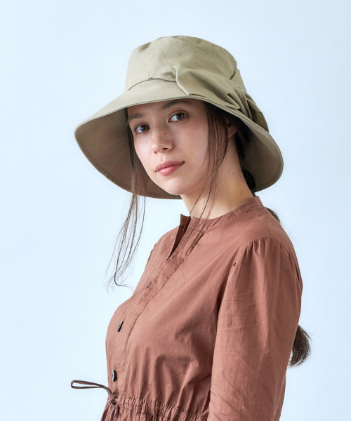 override Cotton Ribbon Hat