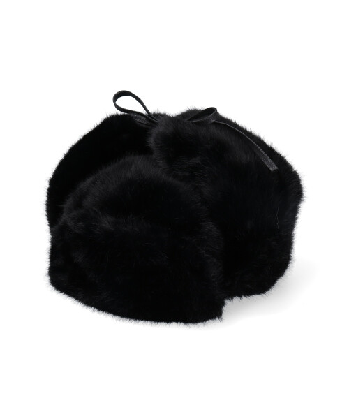 KANGOL Black Faux Fur Trapper